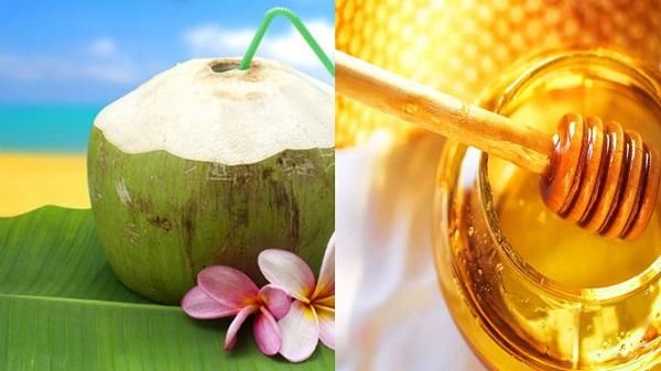 uống nước dừa mật ong hàng ngày