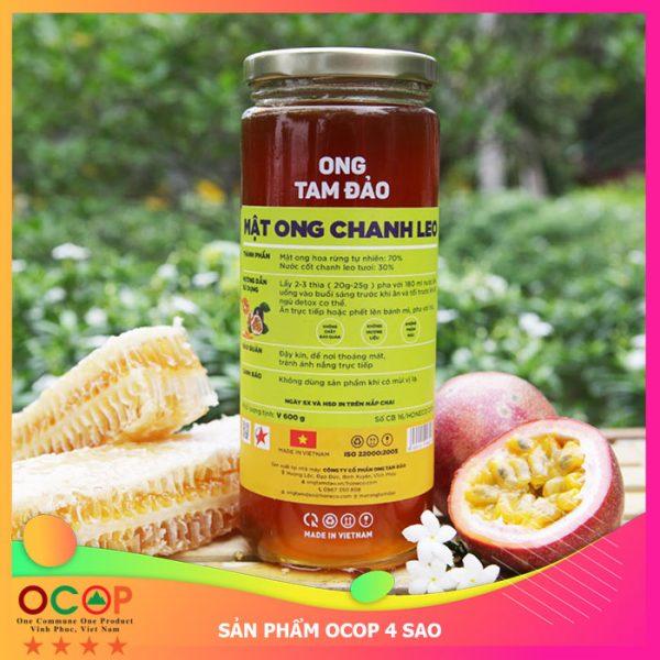 Mật ong Chanh Leo 600g OCOP 4 Sao