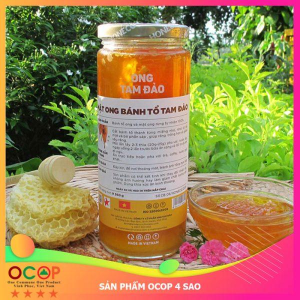 Mật ong bánh tổ Tam Đảo OCOP 4 Sao