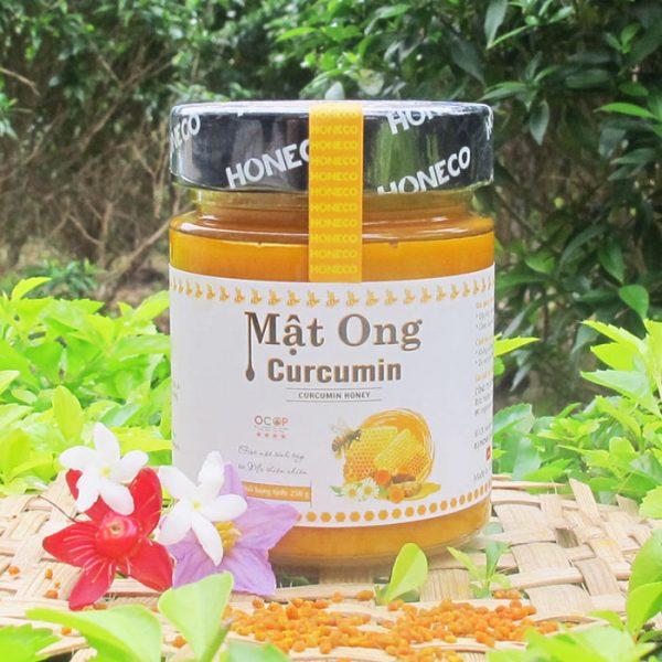mật ong hoa rừng nguyên chất và tinh chất nghệ curcumin