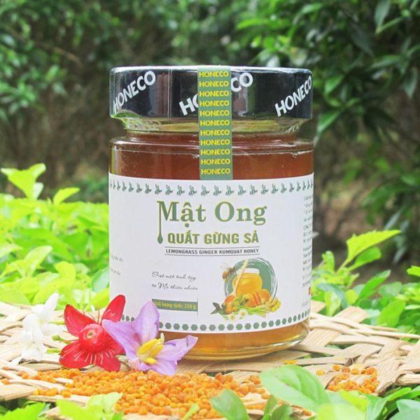 Mật ong rừng nguyên chất kết hợp với quất gừng sả