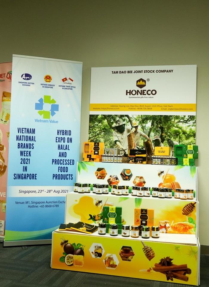 Honeco tham gia triển lãm Hybrid Thương hiệu quốc gia Việt Nam 2021 tại Singapore